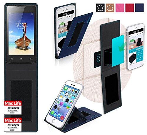 Hülle für Lenovo A1000 Tasche Cover Case Bumper | Blau | Testsieger