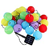 Jago Outdoor Solar String Lanterns Garden Led Fairy Lampions (Size L: 30 Lanterns LEDs)
