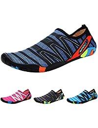 QIMAOO Barefoot Skin Shoes Water Socks, Men Women Quick Dry Water Sport Shoes, Unisex Aqua Shoes for Swim Yoga Beach Running Snorkeling Swimming Scuba Diving