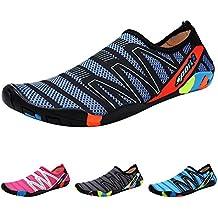 Qimaoo Zapatos de Agua Escarpines Zapatillas Calzado de Playa Descalzo  Barefoot Agua Respirable Calcetines para La 47638f1797ac