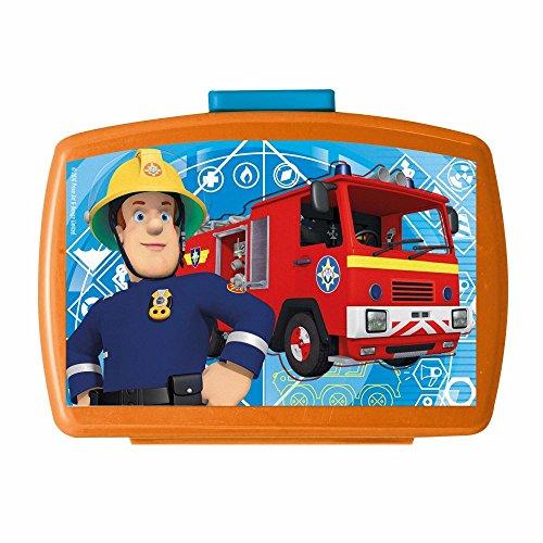POS Handels GmbH Brotdose mit Einsatz | Feuerwehrmann Sam | Box Frühstück | Kinder Vesper Dose