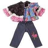 Götz 3402928 Kombi Iconic - für modebewusste Puppen - 3-teiliges Bekleidungsset für Stehpuppen...