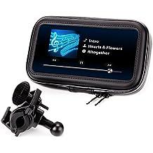 Soporte GPS - Smartphone para Moto, Bici, Scooter - Funda - Carcasa Protectora, Parcialmente Impermeable - Compatible con TomTom , Garmin , Magellan , Nova , Apple Iphone, Samsung, Sony, Bq, Motorola, LG, Htc, Note 2 3 4