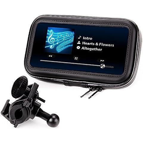 Soporte GPS - Smartphone para Moto, Bici, Scooter - Funda - Carcasa Protectora, Parcialmente Impermeable - Compatible con TomTom , Garmin , Magellan , Nova , Apple Iphone, Samsung, Sony, Bq, Motorola, LG, Htc, Note 2 3 4 5,