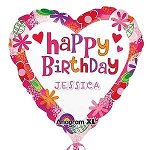 Amscan International - Globo de cumpleaños (aluminio), diseño floral