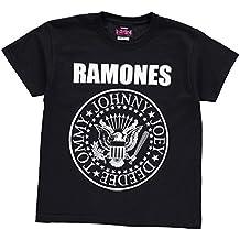 Official Ninos Ramones Camiseta Junior Estampa Casual Manga Corta Cuello Redondo