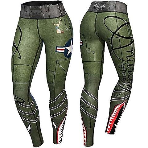 Anarchy apparels Compression Legging Bomber, Fitness, pantalons, pantalon de gymnastique Musculation, s