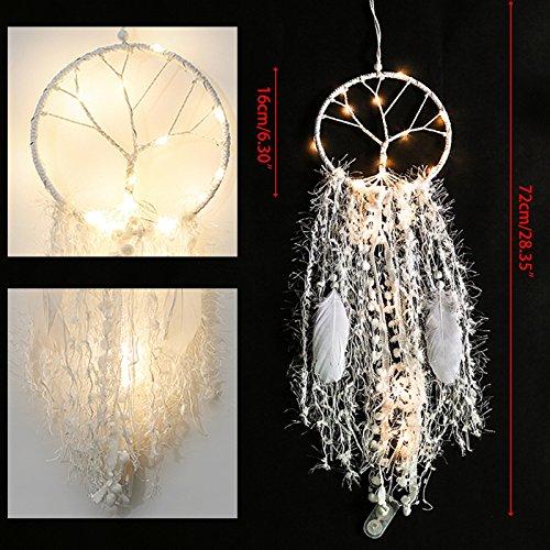 JAGENIE Lámpara LED grande con diseño de estrella y atrapasueños, ideal como regalo