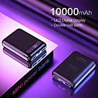 Amyove Mini Power Bank 10000mAh for Xiaomi Mi Powerbank Pover Bank Charger Dual USB Ports External Battery Power Bank