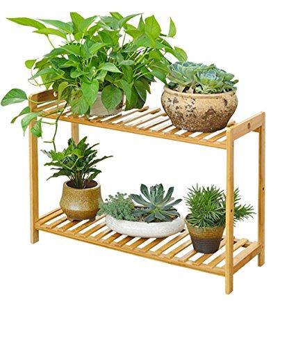 LIANGLIANG Etagère De Fleur Plancher en Bambou Pot À Fleurs Plante Plante Succulentes Pot À Fleurs Salon Balcon (Taille : 100 * 25 * 52cm)