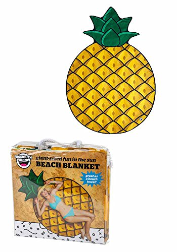 U.Buy Runde Picknickdecke Schal Stranddecke Tischdecke Strandtücher Strandtuch Strandlaken Badetuch Duschtuch Tapestry Ideal für Urlaub Strand Yoga Gym Picnic Wohnkultur (Ananas) -