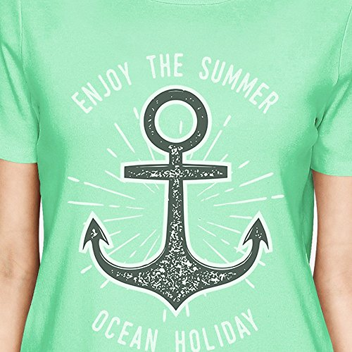 365 Printing T-shirt - Manches Courtes - Femme Taille Unique Enjoy The Summer Ocean Holiday