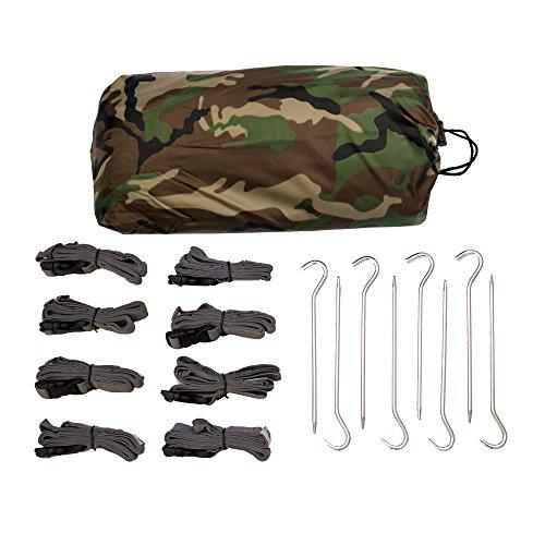 Aqua Quest Defender Tarp - 100% Wasserdichtes - 4 x 3 m Groß - Camo Kit (Kits Camo Boot)
