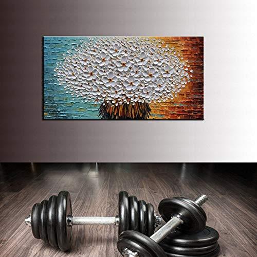RTCKF Arte Moderna Vaso Rettangolare Verticale Dipinto a Mano Pittura a Olio 3D Soggiorno corridoio Home Interior Wall Art Pittura Decorativa (Senza Cornice) A4 30x60 CM