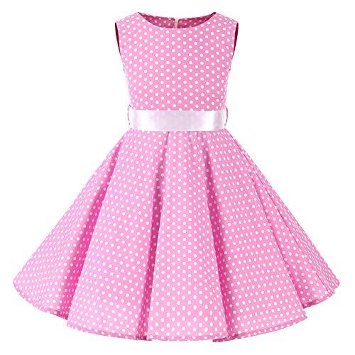 SXSHUN 2019 Niñas Vestido Pin-up Vestido Vintage 50's 60's...