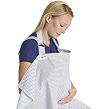 Juicy Bumbles Mantas de Lactancia Cubierta de lactancia materna – Delantal superior estilo deshuesado para asistentas de bebes – Lunares con bolsa de almacenamiento