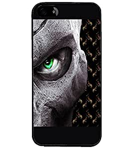 PrintDhaba Devil'a Eye D-2669 Back Case Cover for APPLE IPHONE 5S (Multi-Coloured)