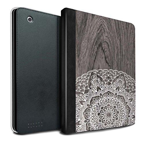 Stuff4® PU-Leder Hülle/Case/Brieftasche für Apple iPad 2/3/4 Tablet/Rustikales Muster/Fein Spitzenborte Holz Kollektion (Fällen Sexy Ipad 3)