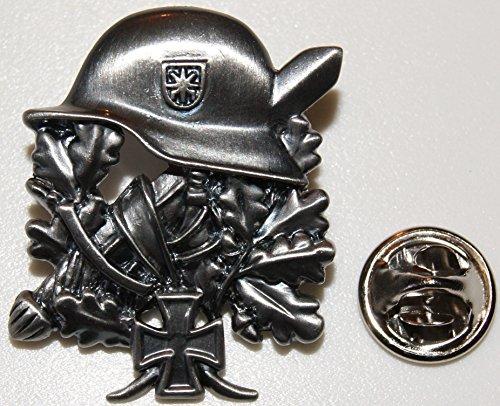 Stahlhelm Helm Eisernes Kreuz EK Eichenlaub l Anstecker l Abzeichen l Pin 106