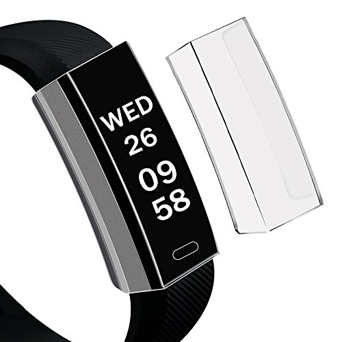 YBWZH Silikon Crystal Full Schutz Cover, Ultra-Thin Soft TPU Protection Silicone Case Cover for Fitbit Alta HR(Clear)