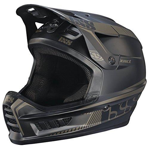 iXS Full Face Helm XACT Downhill Mountain Bike DH MTB BMX Enduro FR Fahrrad, 470-510-6520, Farbe Black Gun Metal - Schwarz, Größe L/XL (Full Face Mountain Bike Helm)