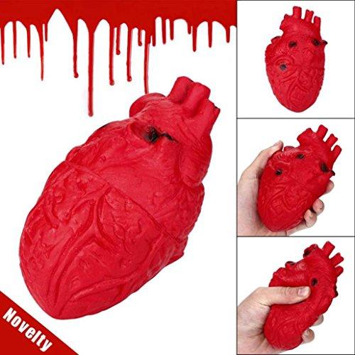 n-furchtsames Organ-Herz-Pressungs-Spielzeug-Stress-Helfer-Spielzeug-Maß über 15 * 8 * 8 cm entlasten Sie Druck und Spannung Gerät für Büro oder Haus (Rot) ()