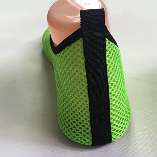 Panegy Unisex Aquaschuhe/ Strandschuhe/ Badeschuhe/ Surfschuhe für Damen und Herren, Gr.35 bis 42 - Netz Grün Grün