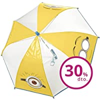 PERLETTI perletti75035 Boy 42/8 Poe Transparent Minions Printed Safety Open Umbrella, Multi-Color