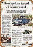 Phirtyrius 1953 Plaque métallique Vintage Ford F-100 Pickup Trucks - 25,4 x 35,6 cm