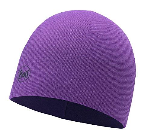 Buff Microfiber und Polar Hat Mütze, Purple Stripes, One Size Reversible Stripe Beanie