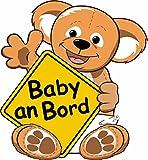 Etaia 10x9,5 cm - Auto Aufkleber Baby an Bord mit Koala Bär Vorsicht Kinder Sticker Autoaufkleber