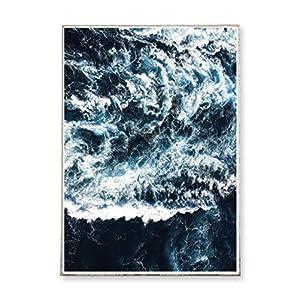 DIN A3 Kunstdruck Poster WAVES -ungerahmt- Meer, Ozean, Wellen, Brandung, Küste, Landschaft