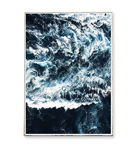 Meer Landschaften (DIN A3 Kunstdruck Poster WAVES -ungerahmt- Meer, Ozean, Wellen, Brandung, Küste, Landschaft)