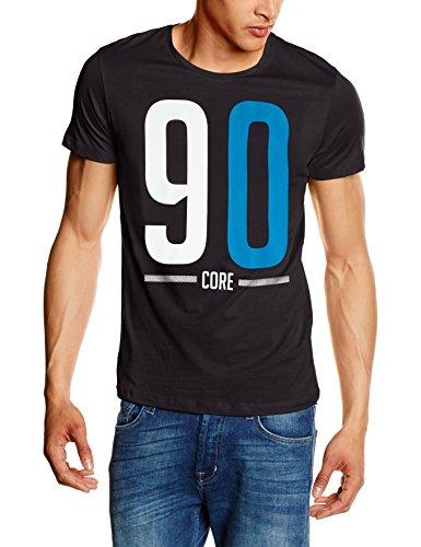 JACK & JONES Herren T-Shirt Jcowarm Tee Ss Crew Neck Schwarz (Black Fit:TALL&SLIM)