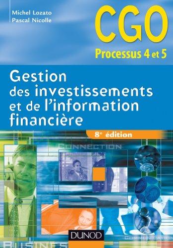 Gestion des investissements et de l'information financière - 8e édition : Manuel (0 t. 1)