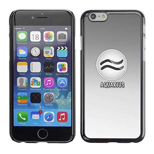 Graphic4You Aries Widder Horoskop Tierkreis Zeichen Design Harte Hülle Case Tasche Schutzhülle für Apple iPhone 6 / 6S Aquarius