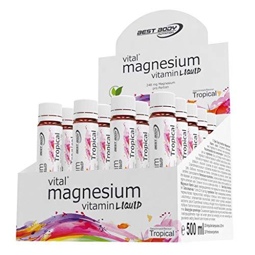 3 x Best Body Nutrition Magnesium Vitamin, 20 Ampullen je 25ml (3er Pack)