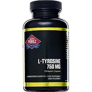 L-Tyrosin - 750 mg pro Einnahme - hochdosiert - 100 Kapseln