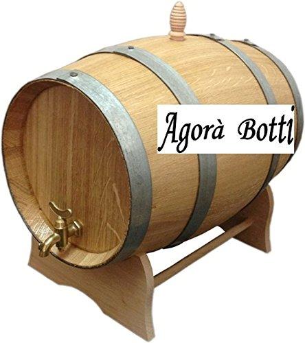 Agorà Botti Eichenfass, 5Liter, mit Wasserhahn aus Messing - 5-liter-eichenfass
