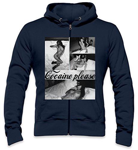 Cocaine And Caviar Sexy Hot Glamour Babe Mens Zipper Hoodie Medium -