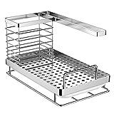 Oriware Spülbecken Organizer für die Küche Caddy Ordnungshelfer Küchenutensilienhalter Rostfreier Edelstahl – 25 x 15 x 15 cm