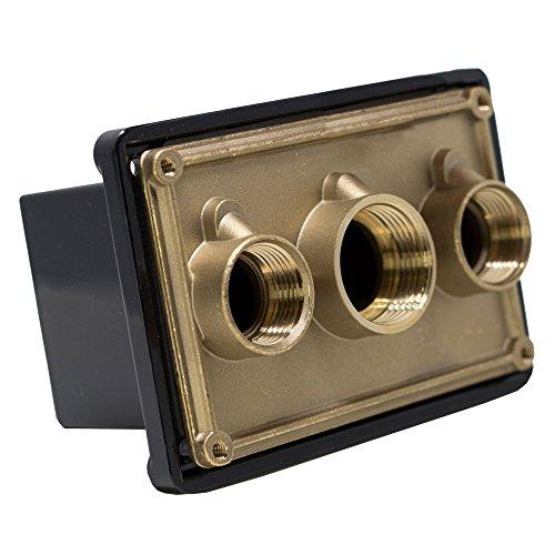 Pentair 78310700 2,5 cm Noir Boîte de jonction Port de Remplacement de Piscine et Spa lumière des systèmes