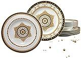 Creatable 15086 Serie Majestosa, Tafelservice, 12-teilig, Porzellan, mehrfarbig, 31 x 30 x 24 cm