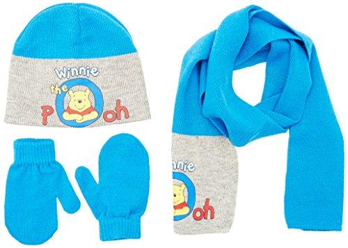 Disney Baby-Jungen Hut und Schal Winnie the Pooh, Gr. XS (Herstellergröße:50), Türkis - Türkis