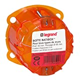 Legrand 090505 Boîte à encastrer Batibox 1 poste, Orange