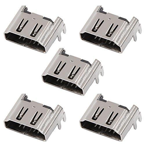Zerone 5x HDMI-Port für PS4, HDMI Port Sockel Schnittstelle Anschluss Ersatz Reparatur Teil für Playstation 4PS4Konsole (Home Ps4 Playstation)