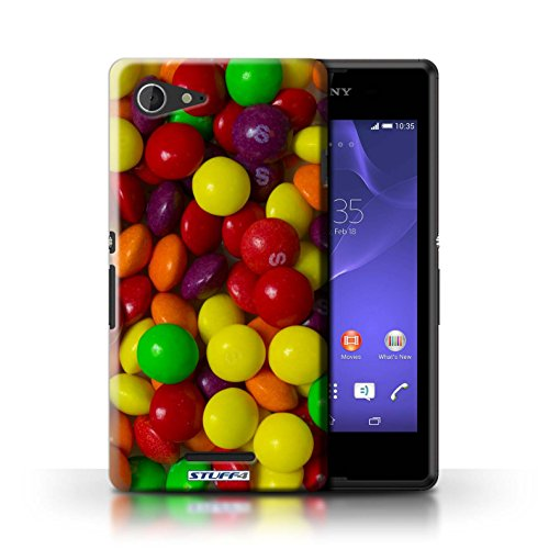 Kobalt® Imprimé Etui / Coque pour Sony Xperia E3 / Roses conception / Série Bonbons Skittles