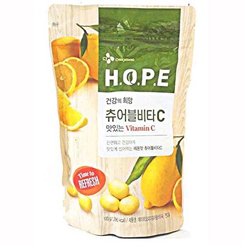 [CJ] H.O.P.E Chewable VITAC Delicious gesunde Vitamin-C Kaubonbon 300G Wüste