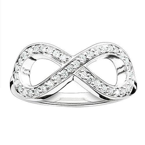 Thomas Sabo Damen-Ring Glam & Soul 925 Sterling Silber Zirkonia weiß Gr. 52 (16.6) TR2014-051-14-52