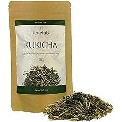 KUKICHA Grüner Tee aus Japan lose 100g / Süßlich-mild mit feiner Umami-Note / Gyokuro Kukicha aus Kyushu / Japanischer Grüntee von TeaClub